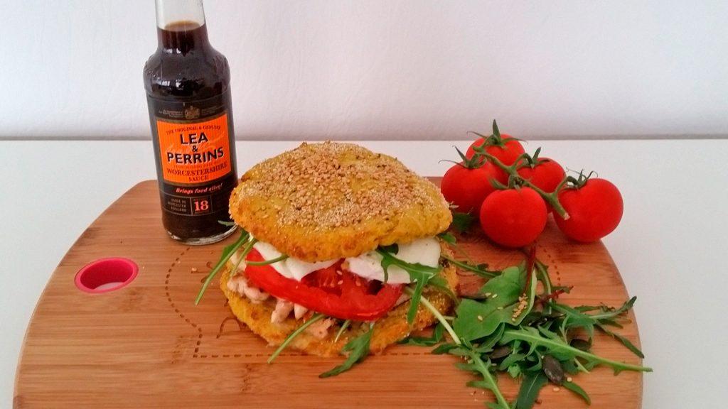 Bloemkoolburger met Lea & Perrins Worcestersaus