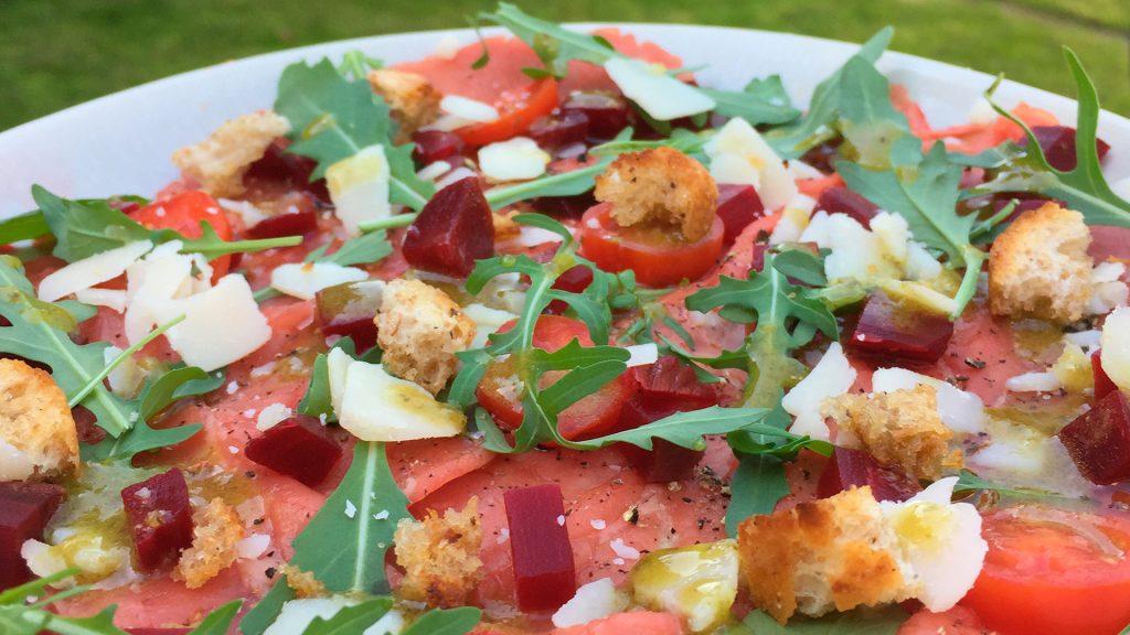 Zomerse tomatencarpaccio