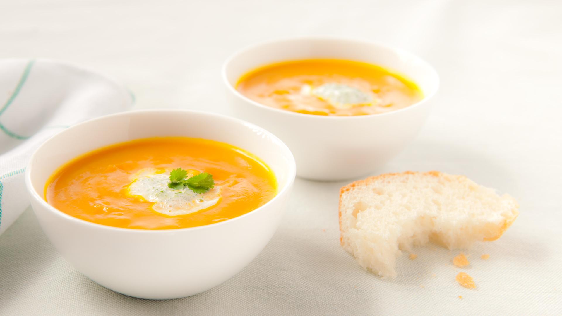 Soupe au potiron relevé à la Lea & Perrins