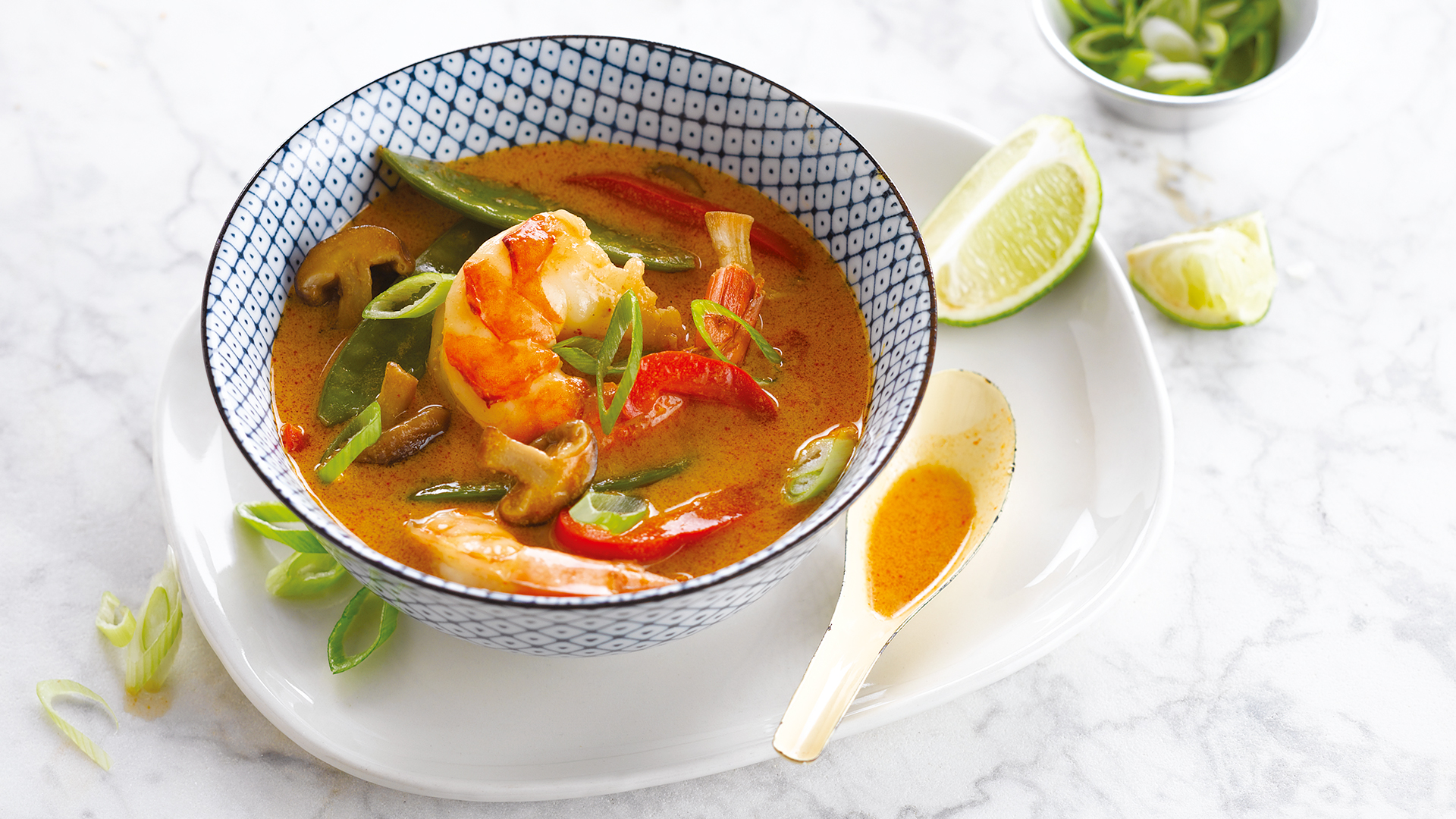 Soupe thaï au poisson